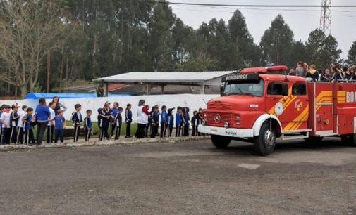Bombeiros de Porto União realizam ação do Alerta Vermelho