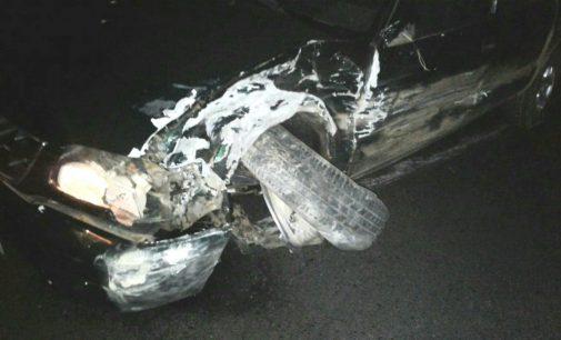 Acidente na PR 170 envolve dois veículos com placa de Curitiba