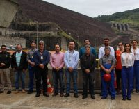 Defesa Civil de Bituruna vistoria a Usina Hidrelétrica Bento Munhoz da Rocha Neto