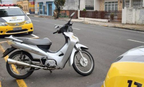 PM recupera moto furtada em União da Vitória