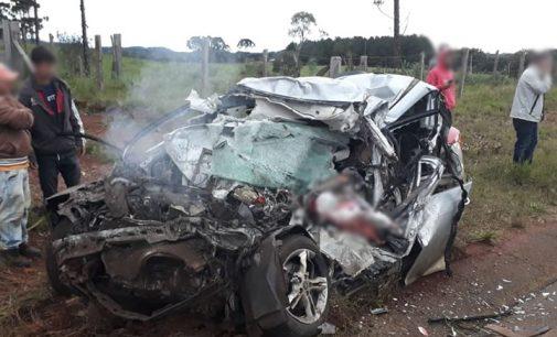 Acidente na SC 135 em Caçador deixa quatro mortos