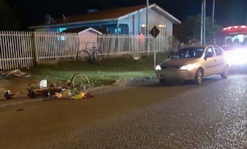 Ciclista fica ferida no distrito de São Cristóvão