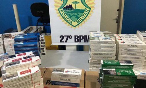 Polícia Militar fecha ponto de venda de cigarro de contrabando