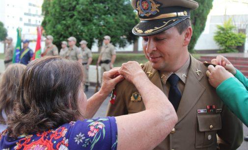 Silvano Sasinski é promovido a Tenente Coronel da PMSC