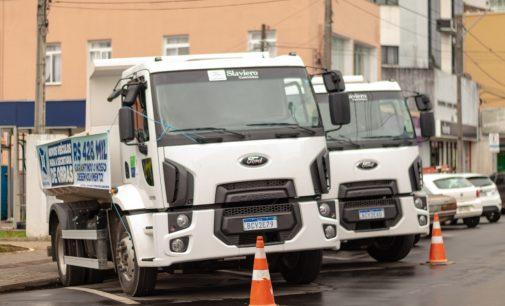 Setor de Obras de União da Vitória, recebe dois novos caminhões