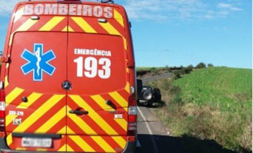 Acidente na SC 340 em Porto União deixa dois feridos