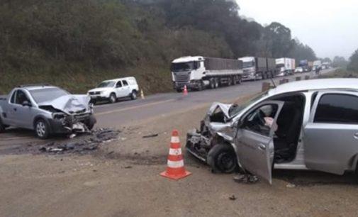 Acidente na BR 153 em General Carneiro deixa dois feridos
