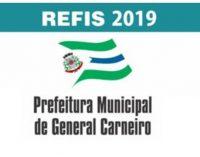 Prefeitura de General Carneiro lança Refis 2019