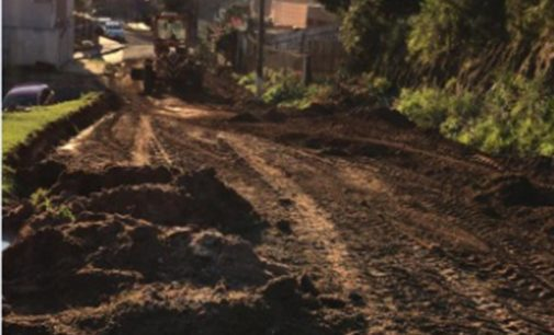 Prefeitura de Porto União inicias obras na rua Otto Eggers