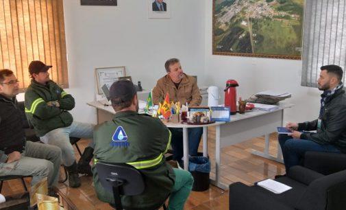 Equipe da Casan visita Prefeitura de Matos Costa