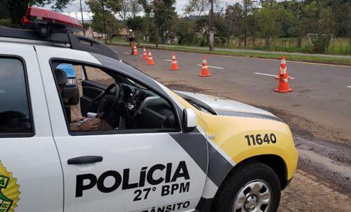 """27º Batalhão de União da Vitória realiza operação """"Vida no Trânsito"""""""