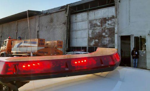 Furto e princípio de incêndio em empresa no bairro Rocio
