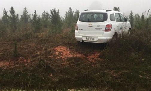 Prefeito de Paula Freitas sofre acidente na BR 476