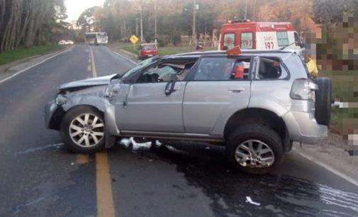 Acidente na BR 280 em Irineópolis deixa uma pessoa ferida