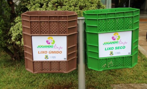 Lixeiras do Jogando Limpo podem ser adquiridas em Bituruna
