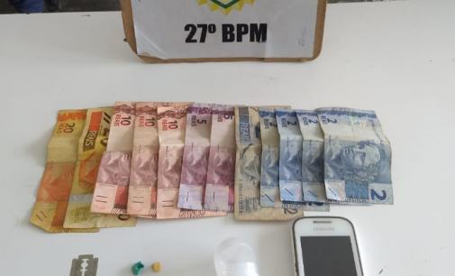 Dois homens são presos por tráfico de drogas no Rocio