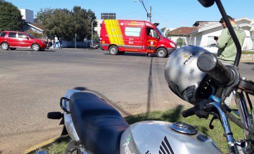 Motociclista fica ferido em acidente no centro de União da Vitória