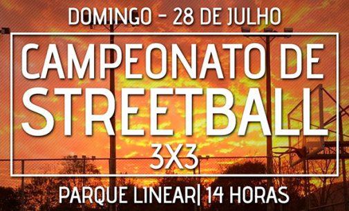 Campeonato de Streetball 3×3 será neste domingo, 28