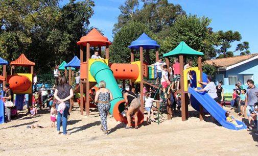 Prefeitura de Bituruna inaugura primeiro playground infantil