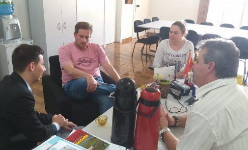 Gerente da Caixa de Porto União visita Matos Costa