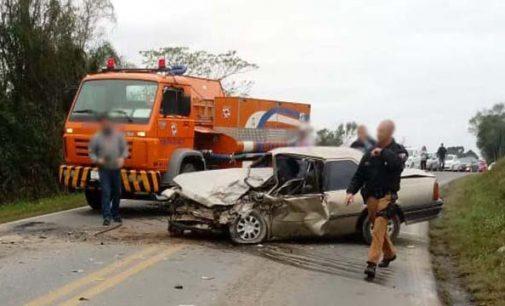 Homem fica gravemente ferido em acidente na BR 153