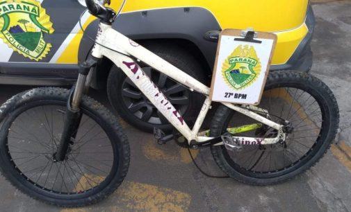 Bicicleta furtada é recuperada pela PM de União da Vitória