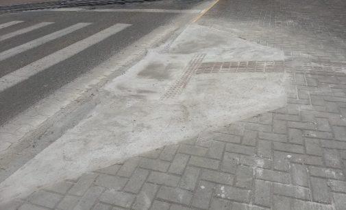 Rampas de acessibilidade são feitas no centro de Porto União