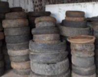 Prefeitura de General Carneiro realiza coleta de pneus usados