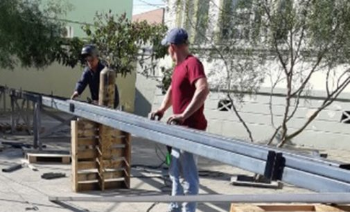 Iniciam as obras na Escola Municipal Professor Serapião