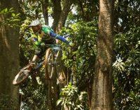 Atleta de Porto União sobe ao pódio na etapa MTB Downhill