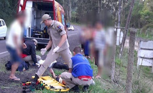 Acidente na Auto Via João Reolon deixa dois feridos