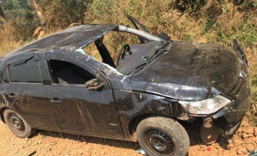 Veículo capota no interior de Cruz Machado