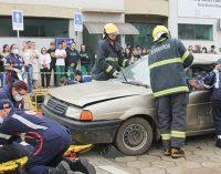 Simulado de acidente de trânsito chama atenção em Irineópolis