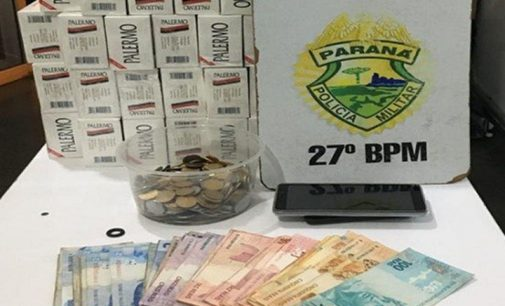 PM apreende cigarros contrabandeados do Paraguai