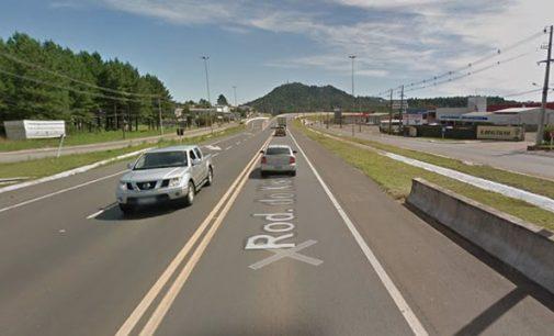 Caminhão é roubado na BR 476 em União da Vitória