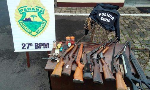 Cinco pessoas são presas durante Operação policial em Bituruna