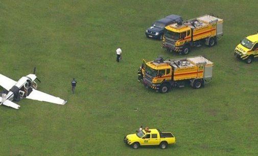 Avião com destino à União da Vitória sai de pista em São Paulo