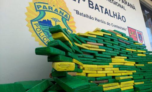 Policiais do 27º BPM apreendem aproximadamente 290 quilos de drogas