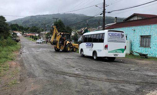 Inicia as obras de pavimentação da rua Eurico Amann