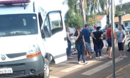 Mulher é atropelada no centro de Cruz Machado