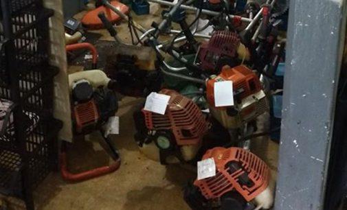 Loja de União da Vitória tem motosserras furtadas
