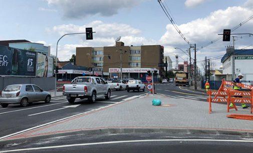 Finalizado a nova sinalização na rua Prudente de Morais