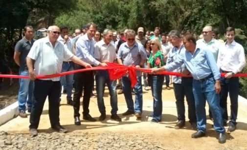 Matos Costa e Porto União inauguram ponte sobre o rio Liso