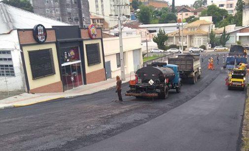 Porto União conclui a pavimentação de quarto ruas