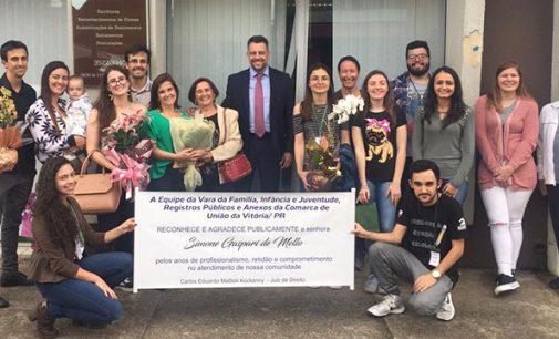 Servidora pública Simone Gaspari de Mello é homenageada