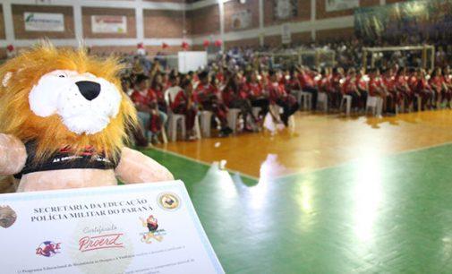 Proerd: 251 crianças dizem 'Não', as drogas em Bituruna