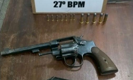 Policiais apreendem arma após denúncia em General Carneiro