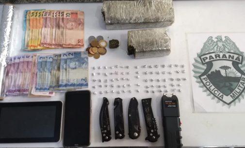 Polícia Militar fecha ponto de tráfico de drogas no Panorama