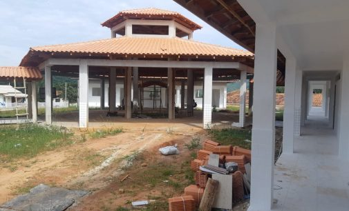 Obras na Escola São Domingos seguem em ritmo acelerado