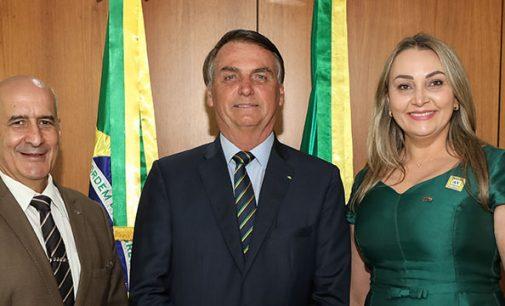 Visita: Presidente Bolsonaro recebe a Governadora de SC